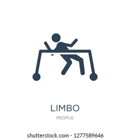 limbo icon vector on white background, limbo trendy filled icons from People collection, limbo vector illustration