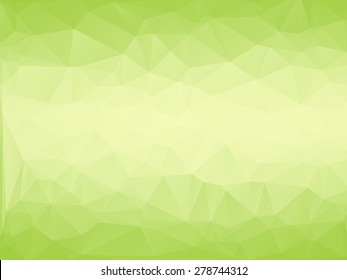 Lime green color abstract polygonal Geometric background,Vector