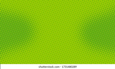 Lime green pop art background in retro comic style with halftone dots design, vector illustration eps10