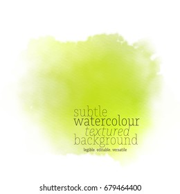 lime green watercolor