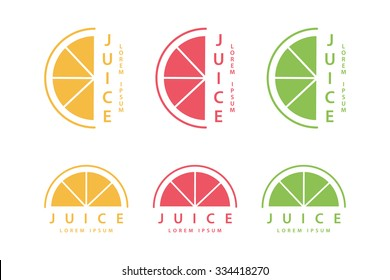 Lime or lemon fruit drink logo template design. Vector illustration.
