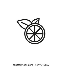 Lime line icon. Sour, citrus, refreshing. Vitamin concept. Vector illustration can be used for topics like freshness, detox, fruit