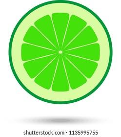 Lime slice. Vector Illustration
