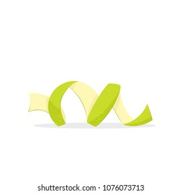 Lime spiral zest. Vector image isolated on white background