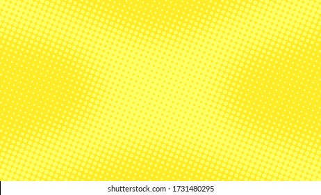 Lime yellow pop art background in retro comic style with halftone dots design, vector illustration eps10