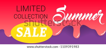 53b1fb86ce Limited Collection Summer Sale Lettering On Stock Vector (Royalty ...