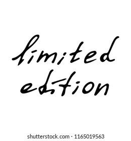 limited edition black inscriptions