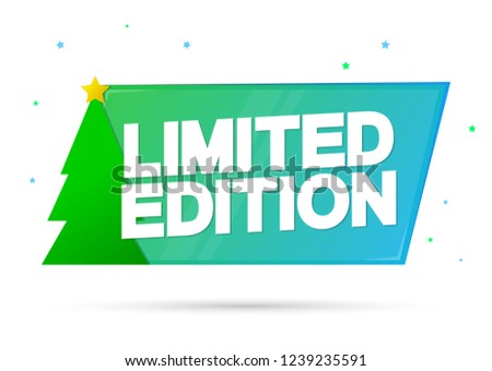 limited edition christmas tag design template stock vector royalty