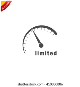 limited edition icon, vector limited offer sign, isolated speed internet silhouette