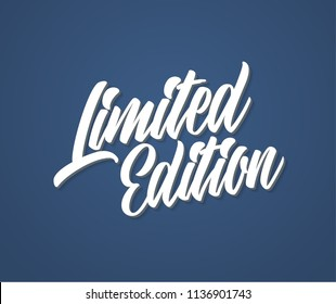 Limited edition lettering logo. Vector illustration.