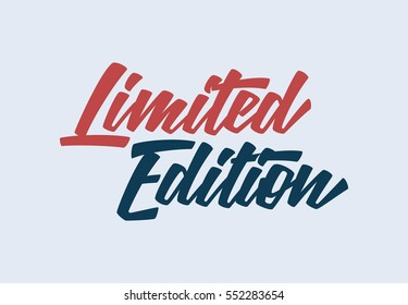 Limited Edition Lettering Vector Illustration