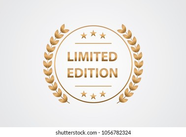Limited edition - Modern gold label isolated on the background. Golden badge. Vector EPS10