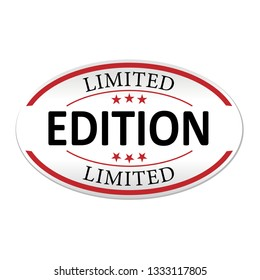 limited edition paper web lable badge isolated