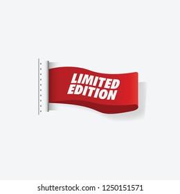 Limited Edition Ribbon Clothing. Vector Illustration Eps 10