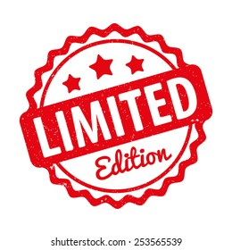 Limited Edition rubber stamp award vector