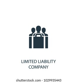 Limited Liability Company icon. Simple element illustration. LLC symbol design from Entrepreneurship collection. Can be used for web and mobile.