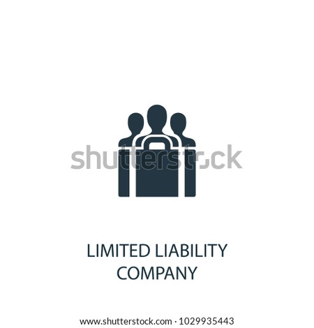 limited liability company icon simple element illustration llc symbol design from entrepreneurship collection
