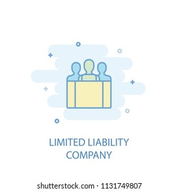 Limited Liability Company line trendy icon. Simple line, colored illustration. LLC symbol flat design from Entrepreneurship set. Can be used for UI/UX