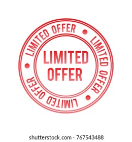 Limited offer vector stamp