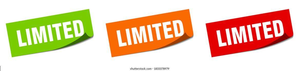 limited sticker set. limited paper peeler sign