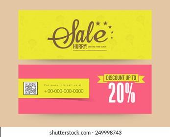 Limited time sale website header or banner set with discount offer.