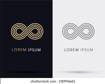 Limitless, Infinity icon logo, vector