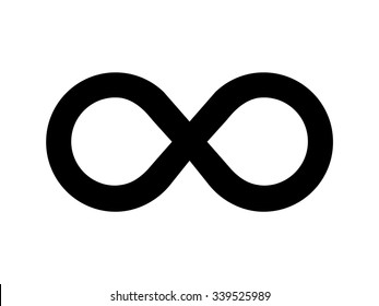 Limitless or Infinity symbol. Vector illustration