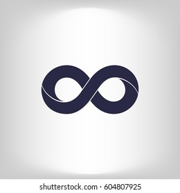 Limitless sign icon. Infinity symbol Isolated