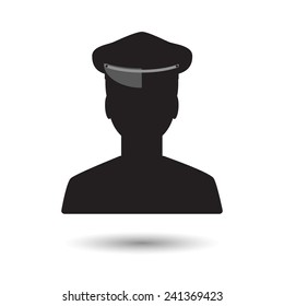 Limo driver silhouette. Limousine driver icon. Vector illustration