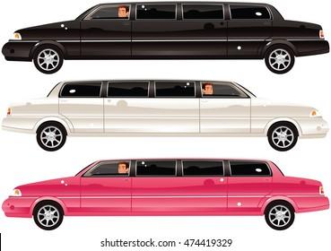 Limousine cars.