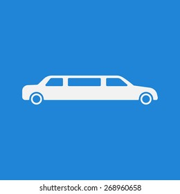 Limousine icon,sign. Modern simple design,flat style. Vector illustration EPS8
