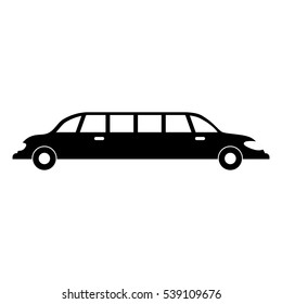 Limousine Luxury Vehicle Icon Vector Illustration Stock Vector