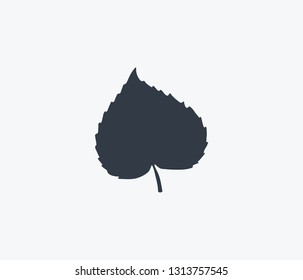 Linden leaf icon isolated on clean background. Linden leaf icon concept drawing icon in modern style. Vector illustration for your web mobile logo app UI design.