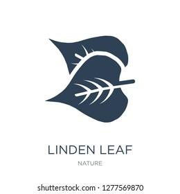 linden leaf icon vector on white background, linden leaf trendy filled icons from Nature collection, linden leaf vector illustration