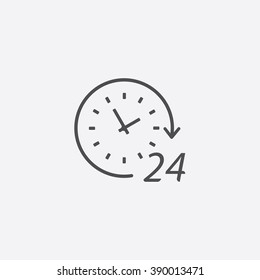 line 24 hours Icon