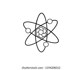 line art Atom