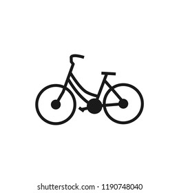 Line art of bicycle logo design template