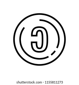 Line Art. Copyleft Sign Illustration vector