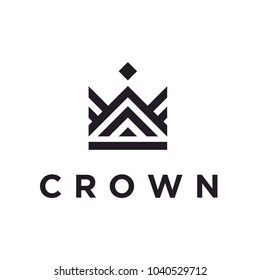Line Art Crown / Royal logo design inspiration