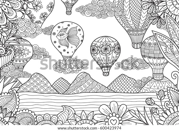 Coloring Pages Of Hot Air Balloons - Coloring Home | 439x600