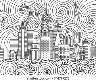 Coloring Page New York City Images, Stock Photos & Vectors ...