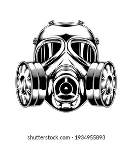 line art gas mask 04 tactical military