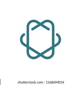 line art HV, HO, HD, NV, NO, ND initials company logo