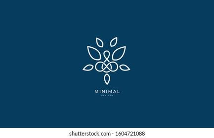 A line art icon logo a  Yoga / mediation / tree