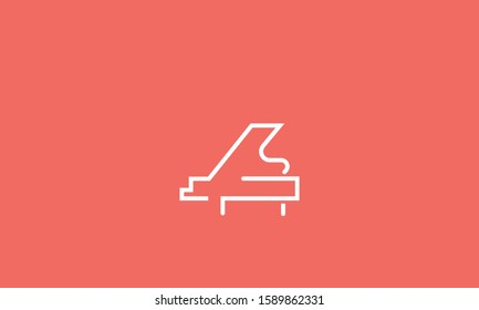 Line art icon of piano/keyboard