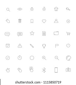 Line Art Icons Vector Illustration