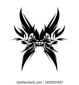Line Art illustration abstrak animal design