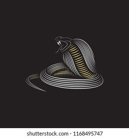 Line art illustration of cobra vector