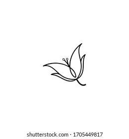 line art logo flower, beauty, spa