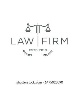 line art logo / Law Firm,Law Office, Lawyer services, Luxury vintage crest logo